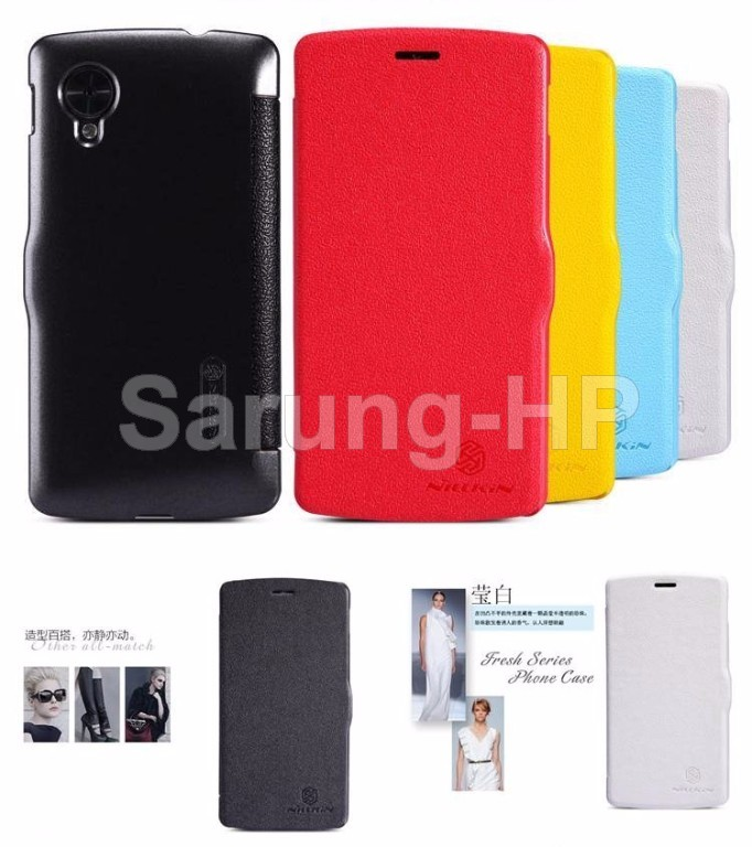 Nillkin Fresh Leather Case Flip Cover LG Nexus 5